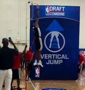 nba vertical jump combine